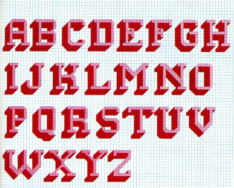 Funky 70s Cross Stitch Alphabet